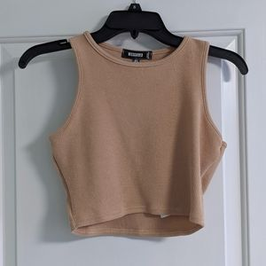 MISSGUIDED Tan Ribbed Crop Top Tank 4